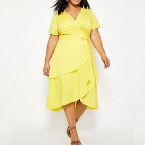 Yellow dress. Ashley stewart